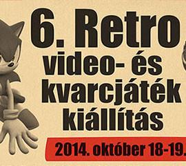 6. Retro video- és kvarcjáték kiállítás 2014.10.18 – 19